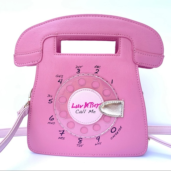 Betsey Johnson Handbags - Betsey Johnson Telephone Crossbody Bag NWOT